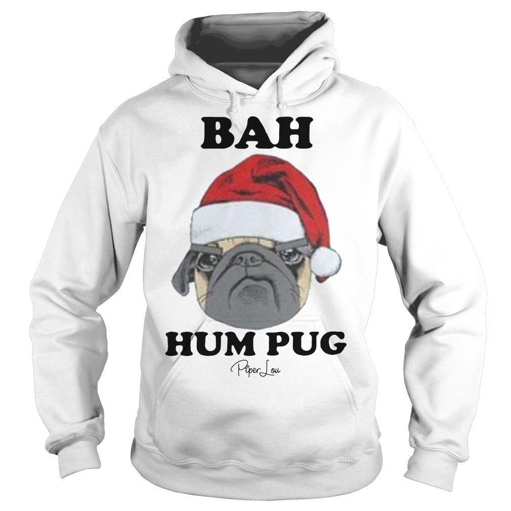 Christmas Bah Hum Pug Hoodie
