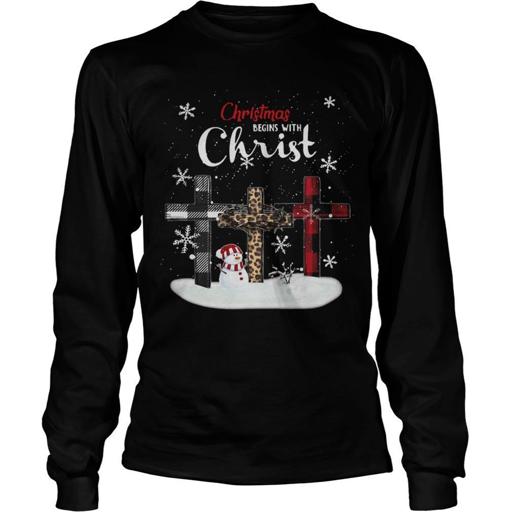 Christmas Begins With Christ Longsleeve