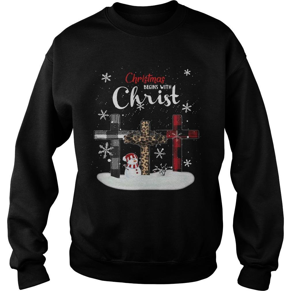 Christmas Begins With Christ Sweater
