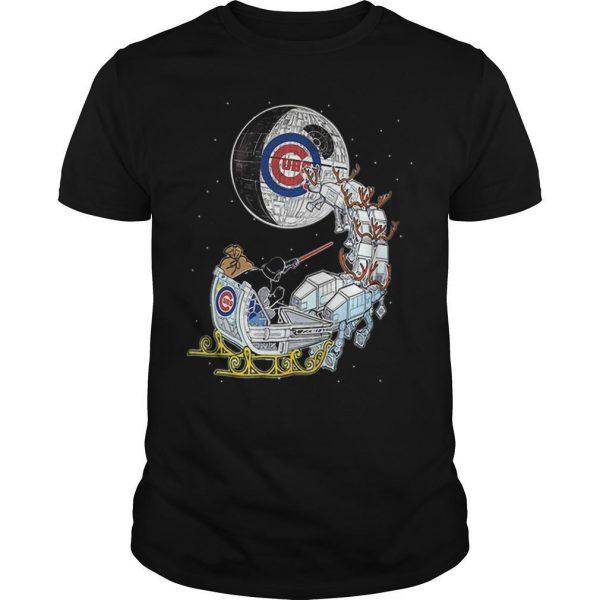 Christmas Chicago Cubs Star Wars Darth Vader Santa's Sleigh Shirt
