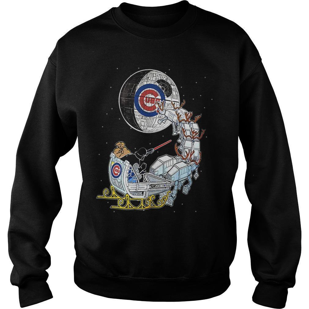 Christmas Chicago Cubs Star Wars Darth Vader Santa's Sleigh Sweater