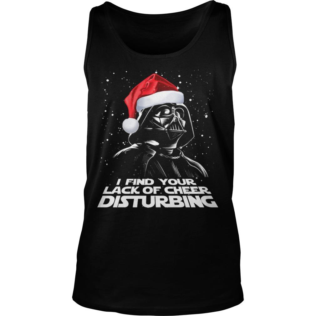 Christmas Darth Vader I Find Your Lack Of Cheer Disturbing Tank Top