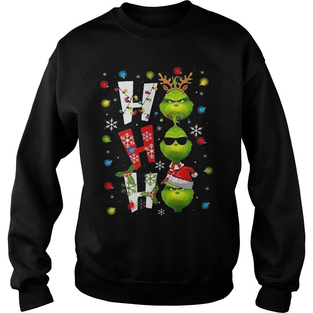 Christmas Grinch Ho Ho Ho Sweater