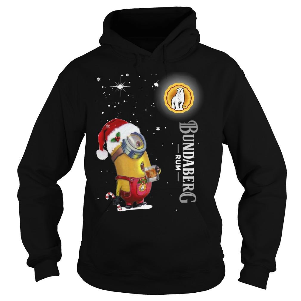 Christmas Minion Bundaberg Rum Hoodie