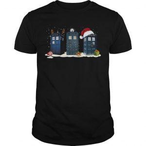 Christmas Police Box Reindeer Shirt