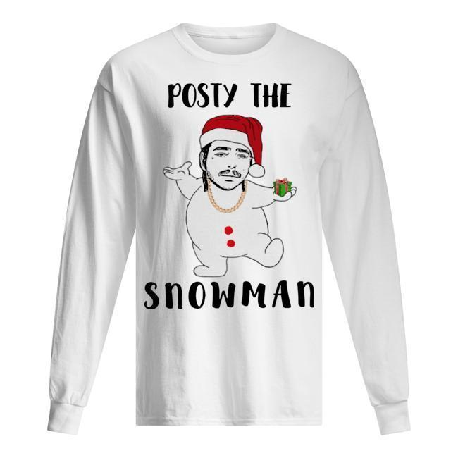Christmas Post Malone Posty The Snowman Longsleeve