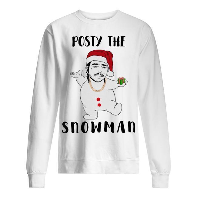 Christmas Post Malone Posty The Snowman Sweater