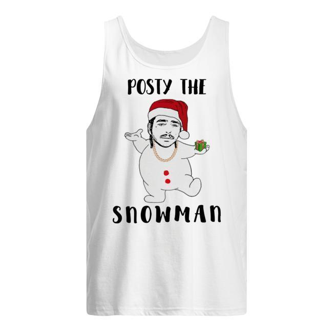 Christmas Post Malone Posty The Snowman Tank Top