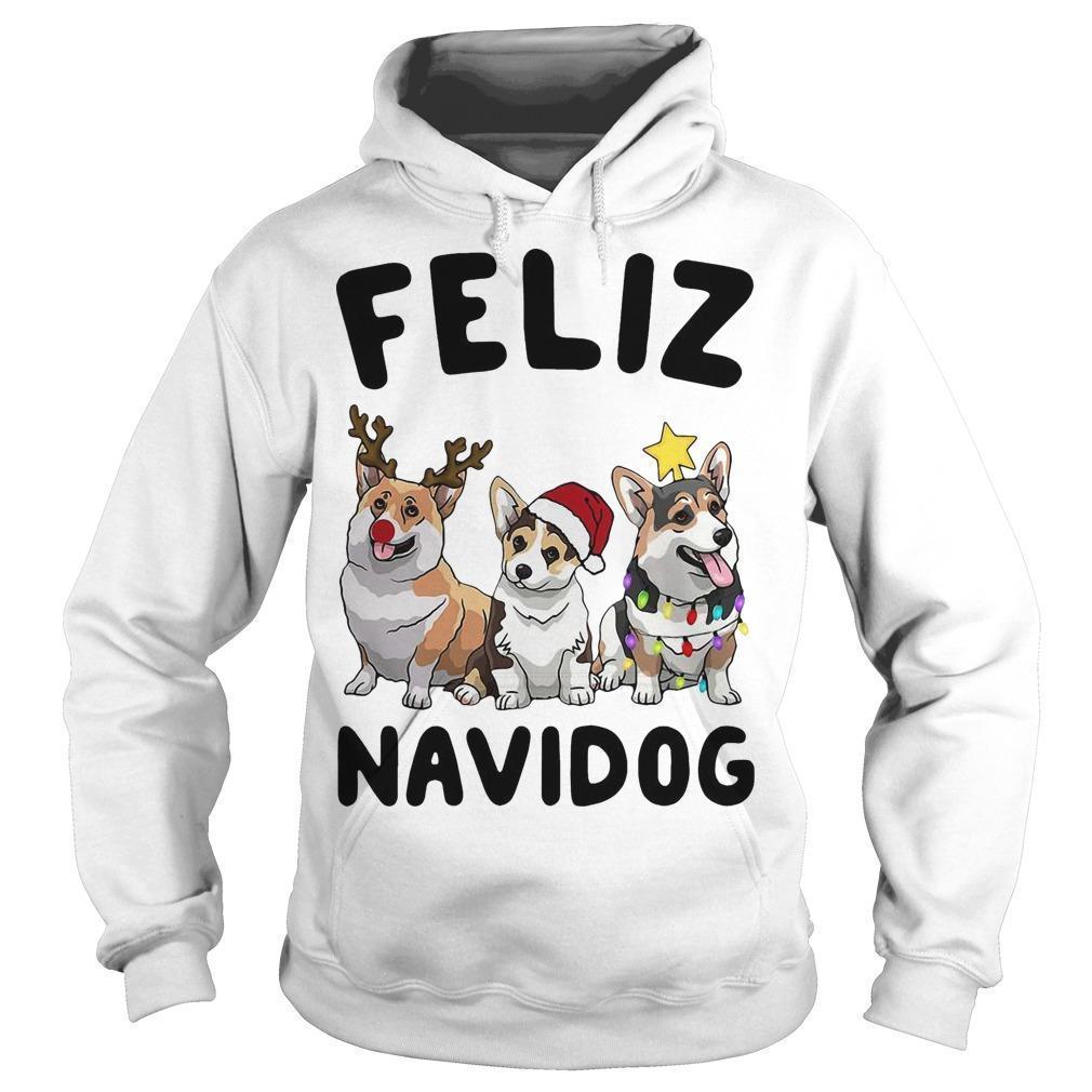 Christmas Pug Feliz Navidog Hoodie