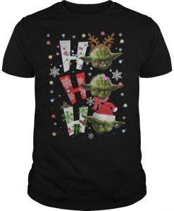 Christmas Santa Yoda Ho Ho Ho Shirt
