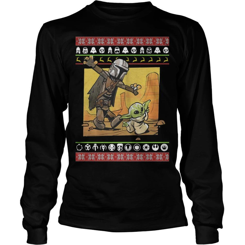 Christmas Star Wars Stormtrooper And Baby Yoda Longsleeve