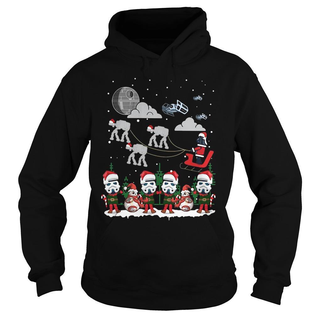Christmas Star Wars Under Snow Hoodie