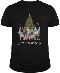 Christmas Stranger Things Characters Friends Shirt