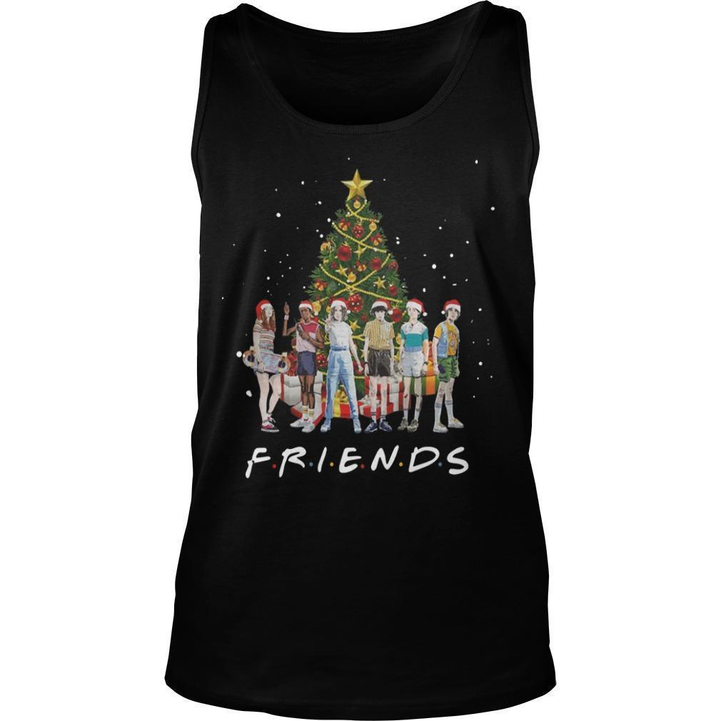 Christmas Stranger Things Characters Friends Tank Top