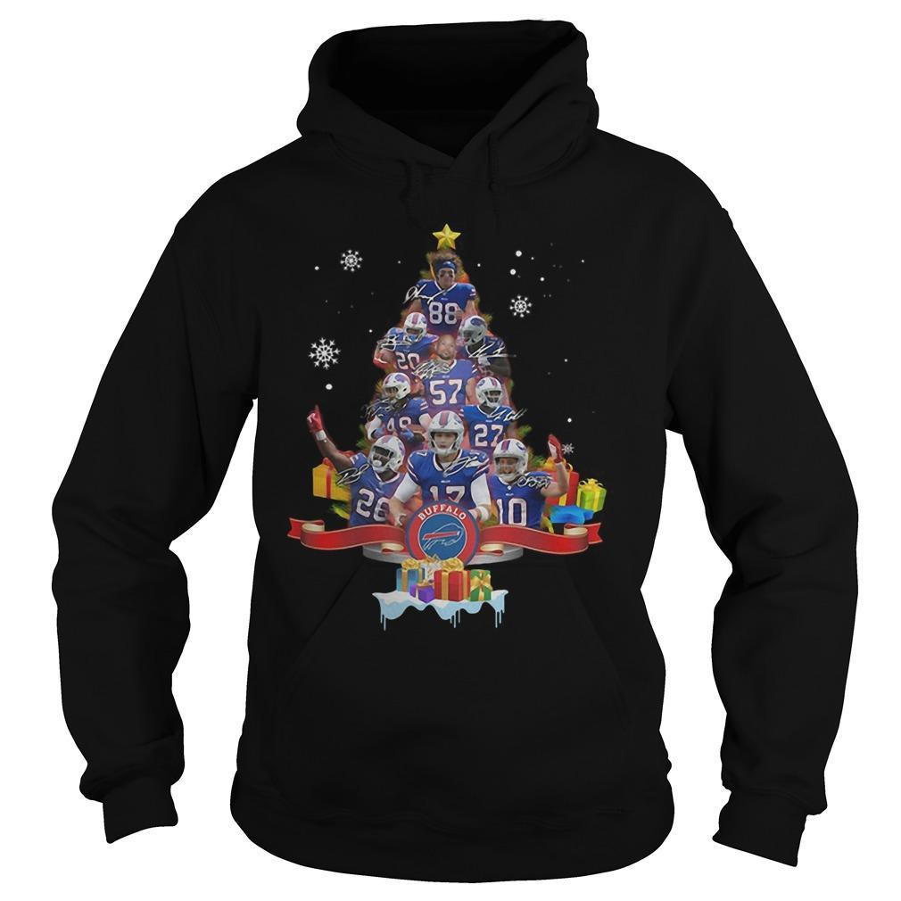 Christmas Tree Buffalo Bills Signatures Hoodie