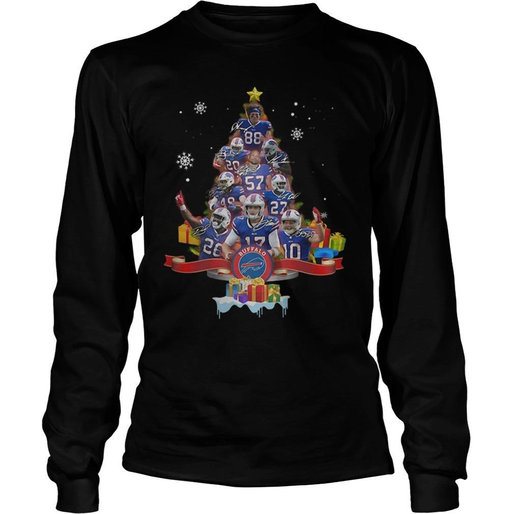 Christmas Tree Buffalo Bills Signatures Longsleeve