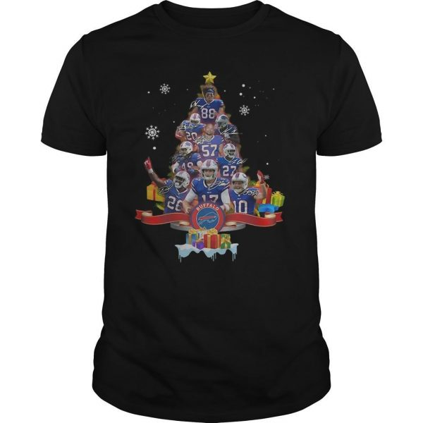 Christmas Tree Buffalo Bills Signatures Shirt