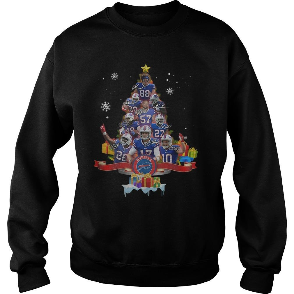 Christmas Tree Buffalo Bills Signatures Sweater