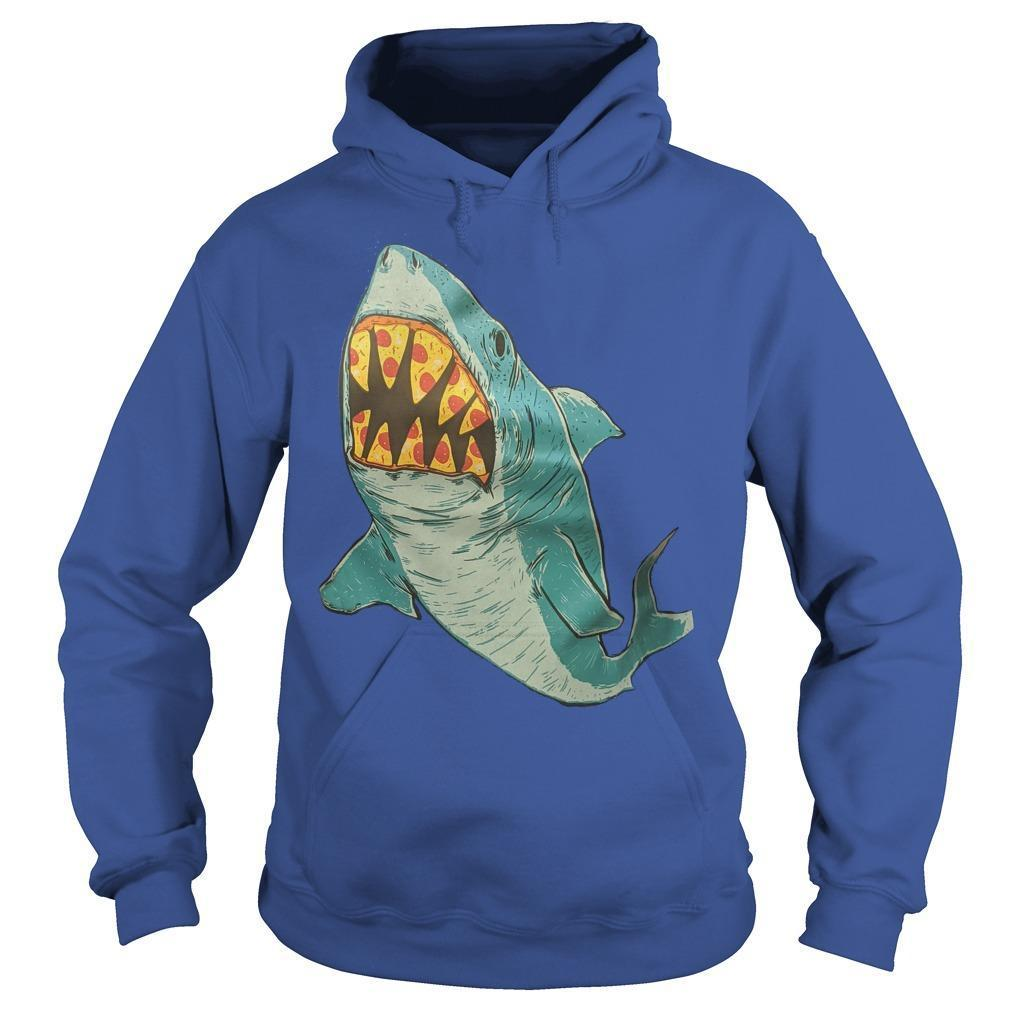 Erin Biba Shark With Pizza Teeth Hoodie