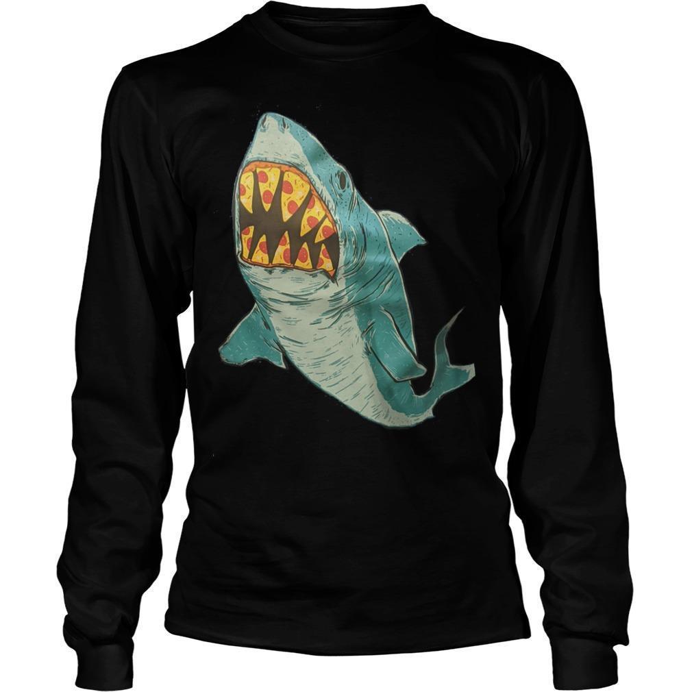 Erin Biba Shark With Pizza Teeth Longsleeve