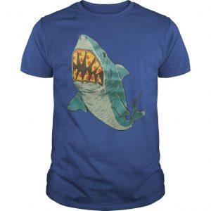 Erin Biba Shark With Pizza Teeth Shirt