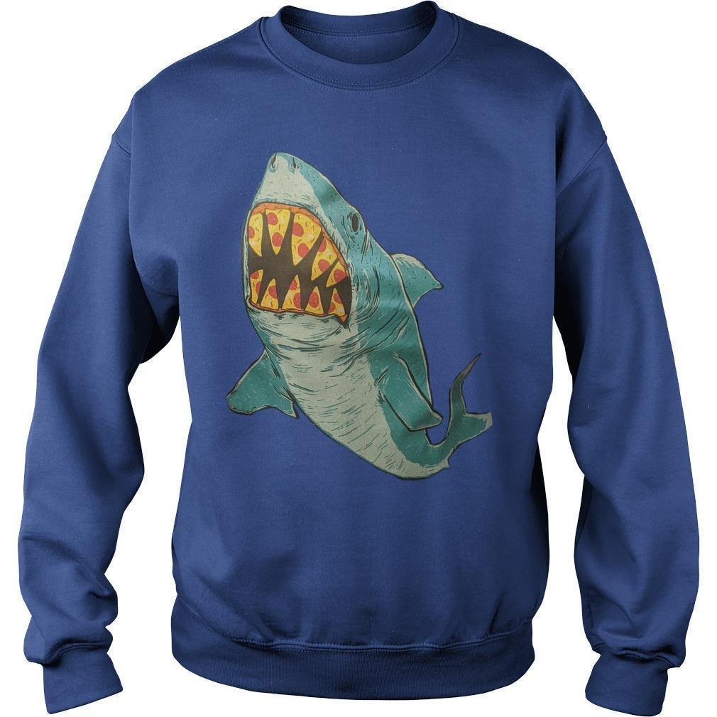 Erin Biba Shark With Pizza Teeth Sweater