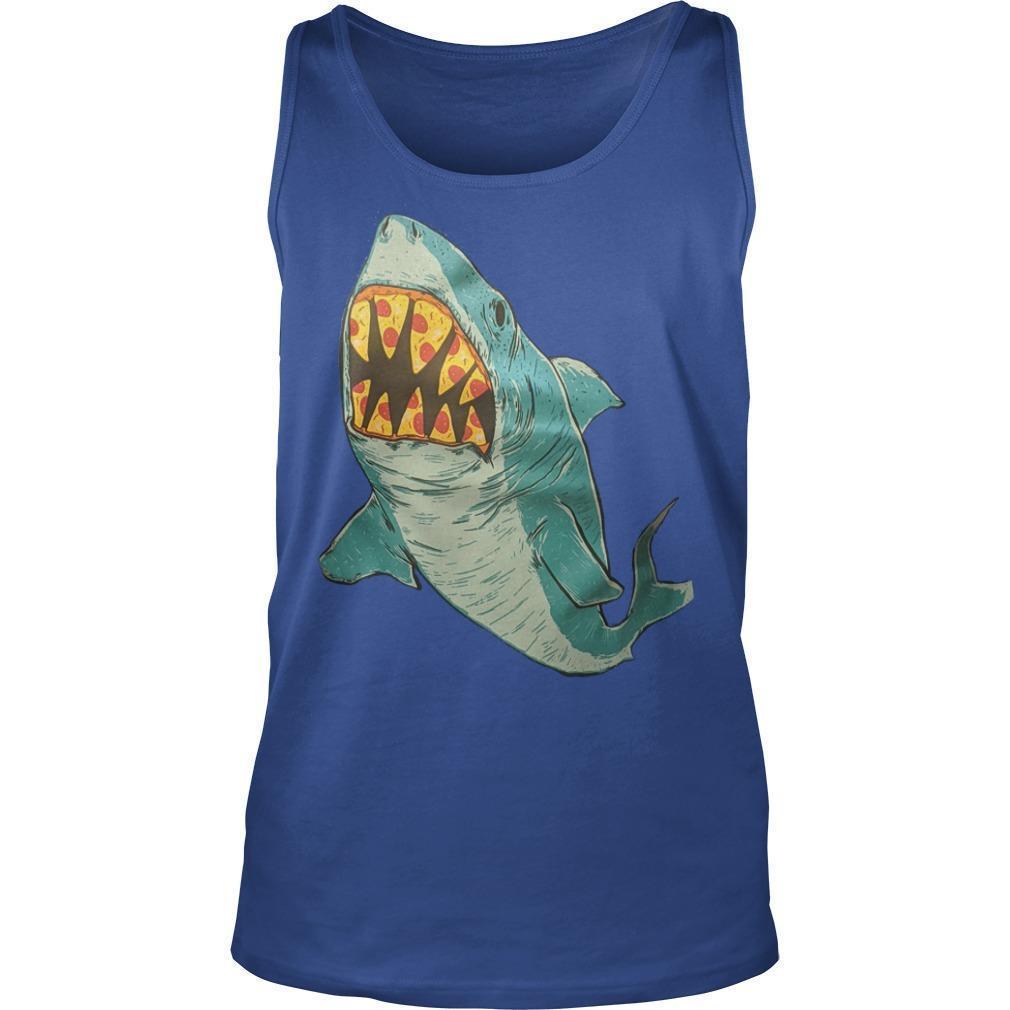 Erin Biba Shark With Pizza Teeth Tank Top