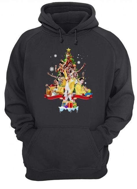 Freddie Mercury Christmas Tree Hoodie