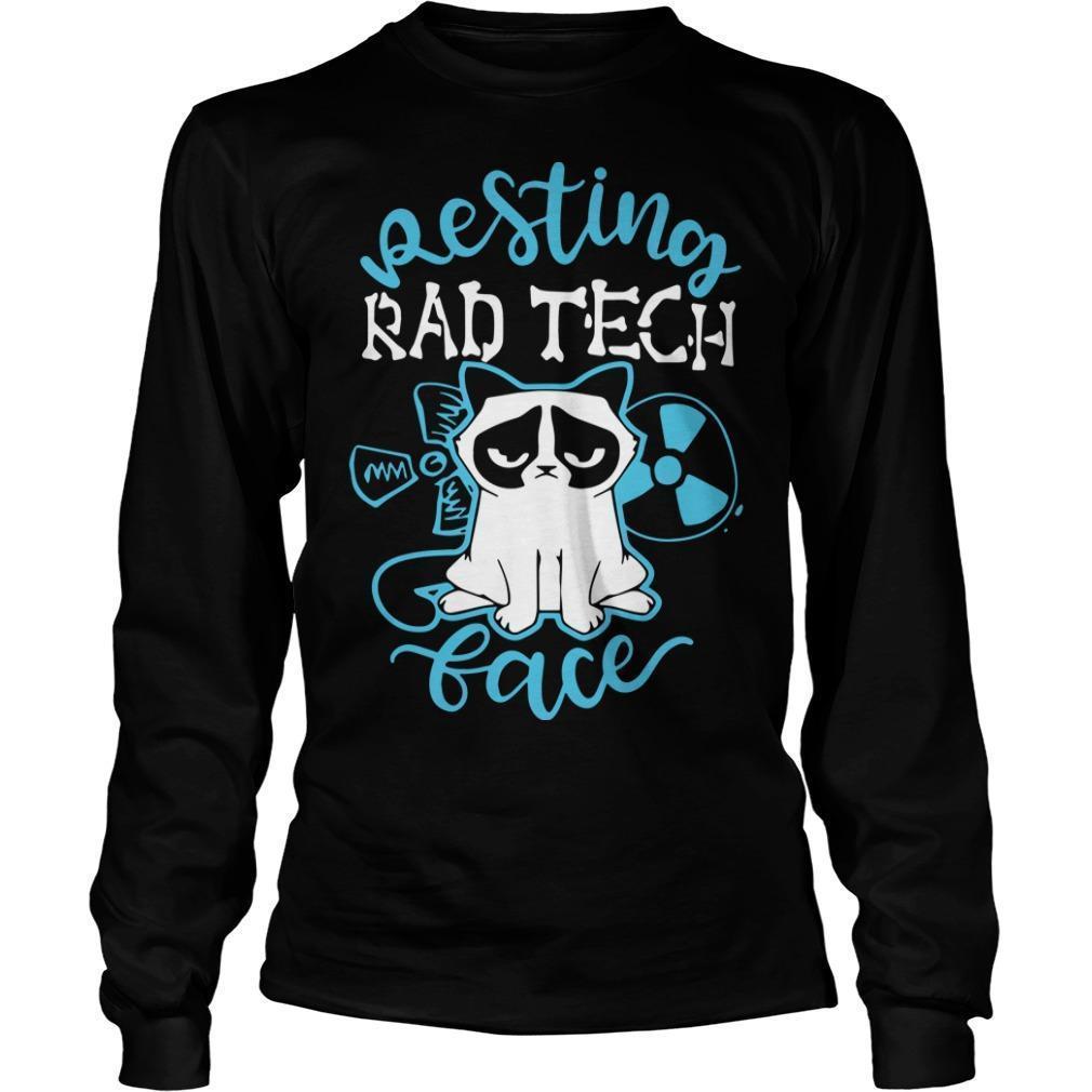Grumpy Cat Resting Rad Tech Face Longsleeve