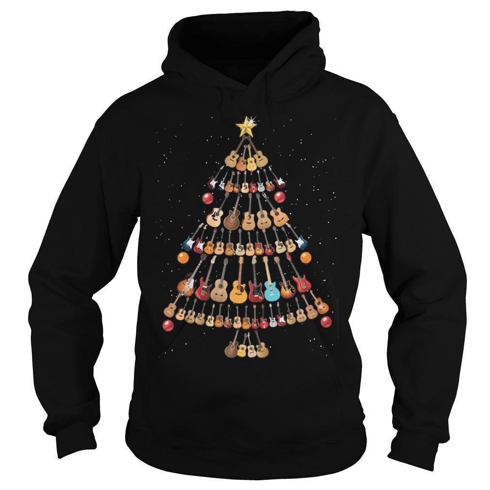 Guitar Christmas Tree Hoodie