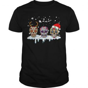 Hippie Skull Christmas Shirt