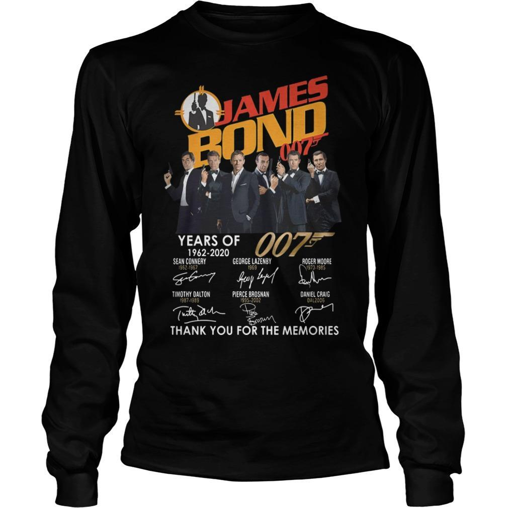 James Bond 007 Years Of 1962 2020 Thank You For The Memories Longsleeve