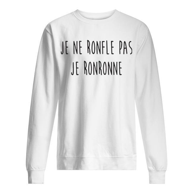Je Ne Ronfle Pas Je Ronronne Sweater