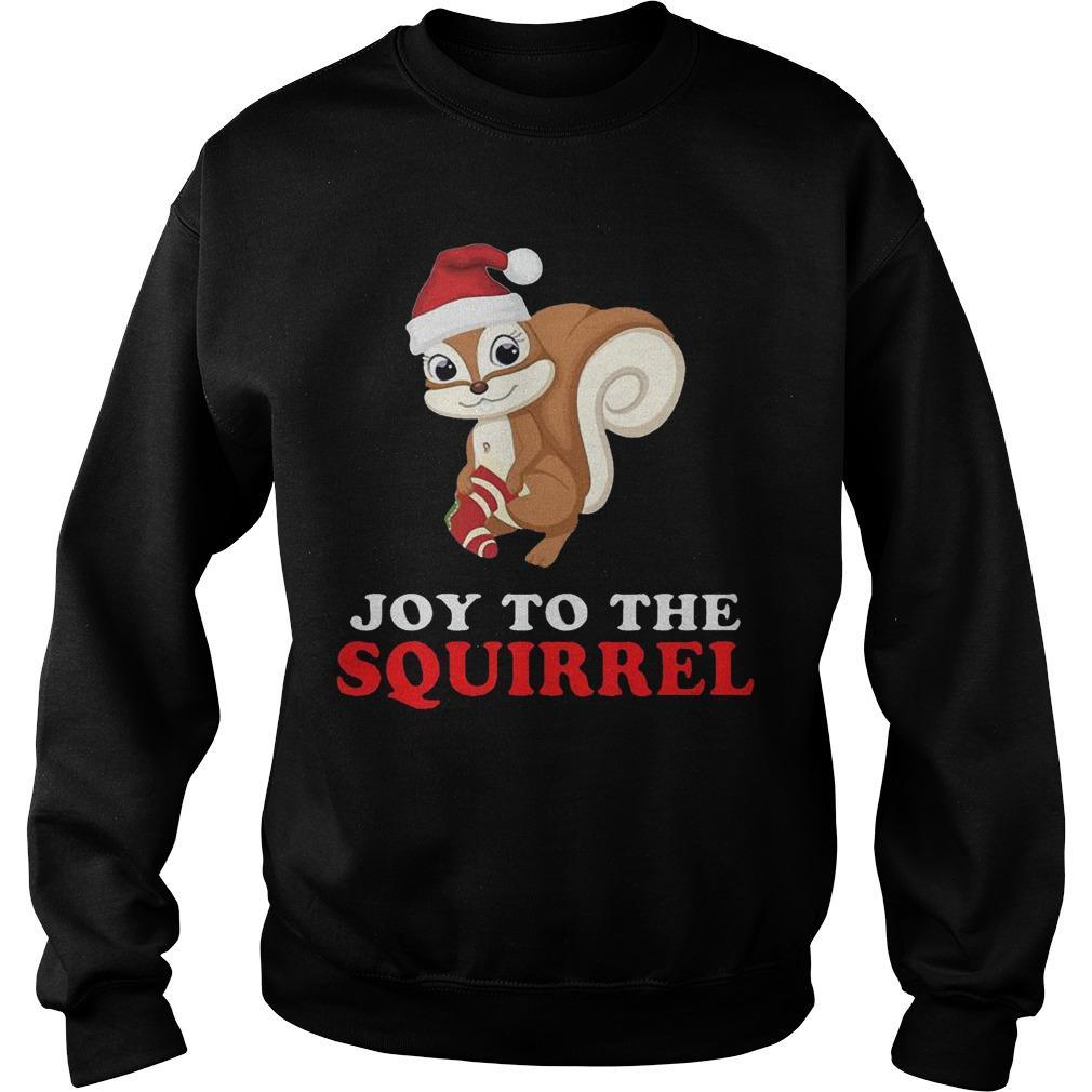 Joy To The Squirrel Christmas Sweater