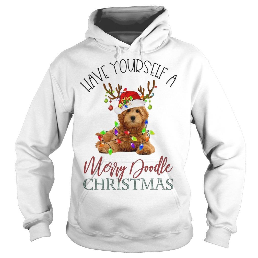 Leave Yourself A Merry Doodle Christmas Hoodie