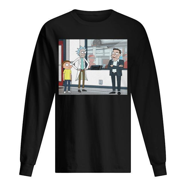 Let's Talk Over Here Elon Musk Rick And Morty Longsleeve