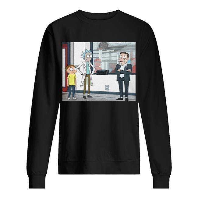 Let's Talk Over Here Elon Musk Rick And Morty Sweater