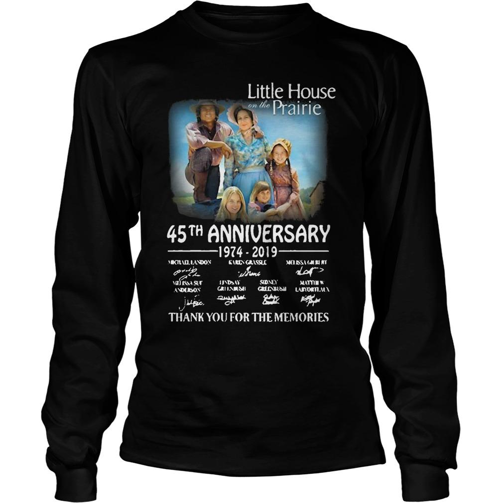 Little House Prairie 45th Anniversary 1974 2019 Thank You For The Memories Longsleeve