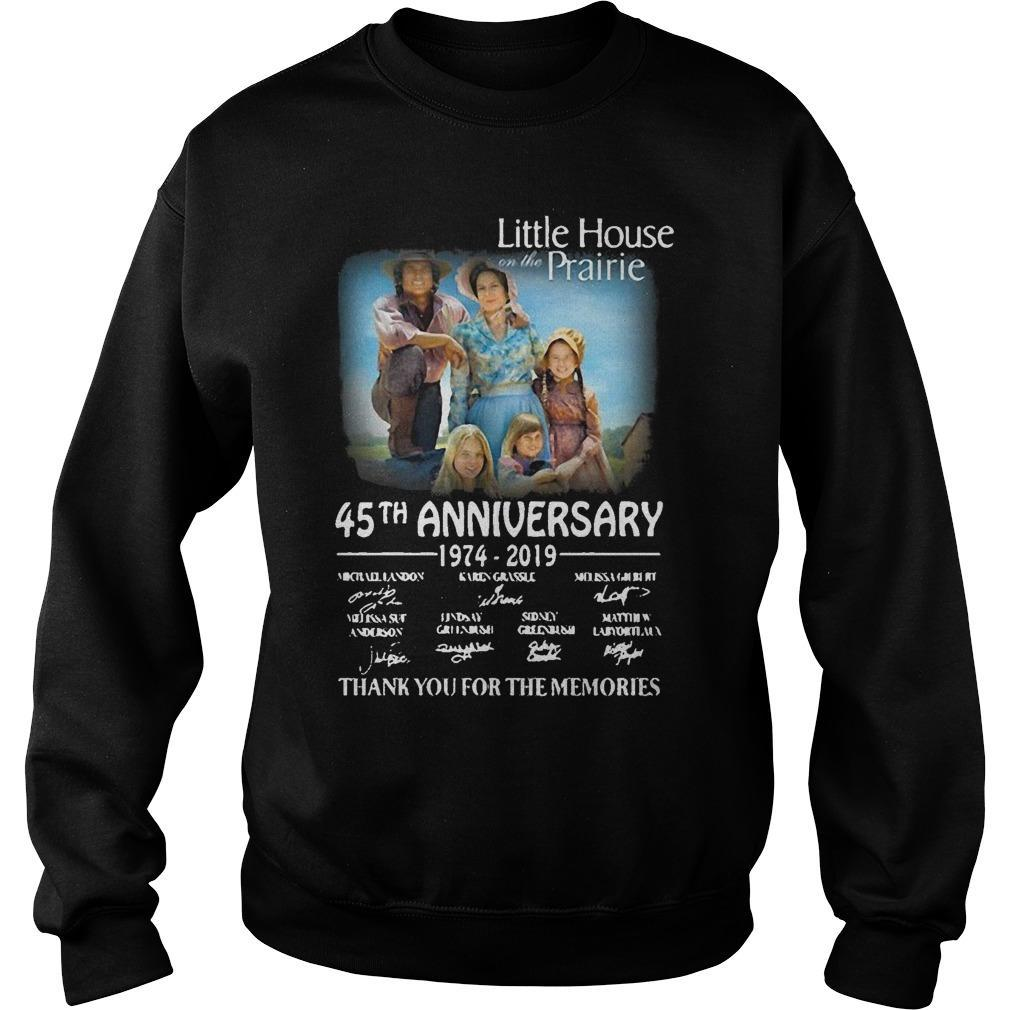Little House Prairie 45th Anniversary 1974 2019 Thank You For The Memories Sweater