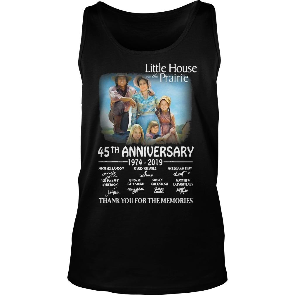 Little House Prairie 45th Anniversary 1974 2019 Thank You For The Memories Tank Top