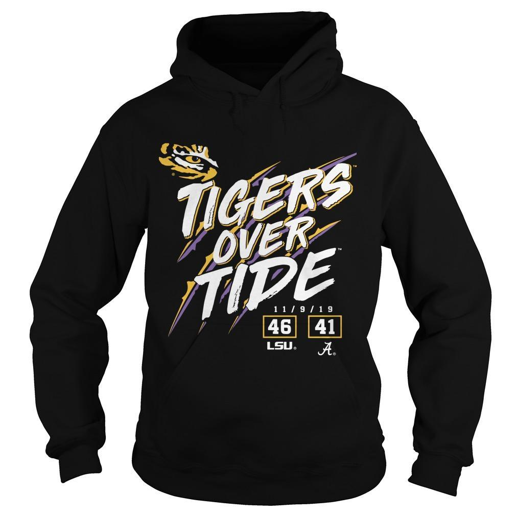 Lsu Tigers 46 Alabama Crimson Tide 41 Tigers Over Tide Hoodie