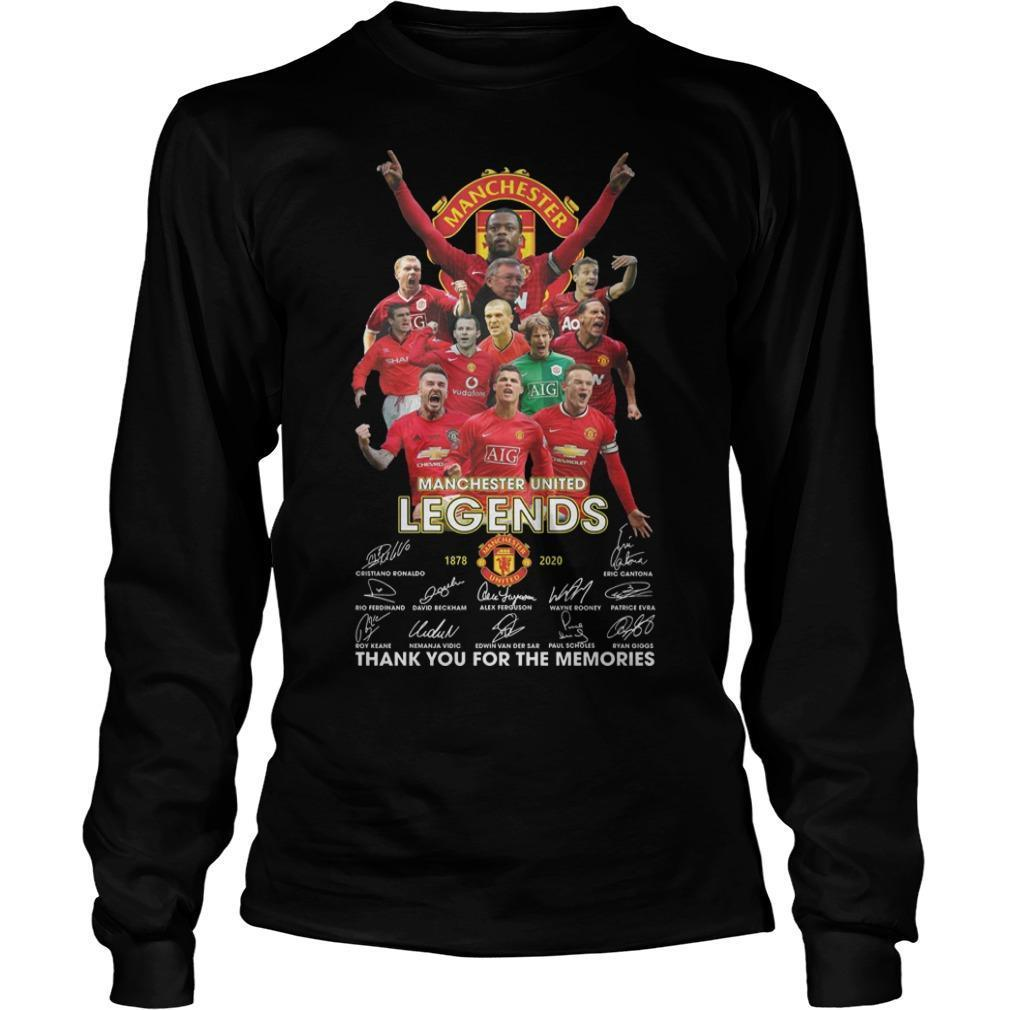 Manchester United Legends Thank You For The Memories Longsleeve