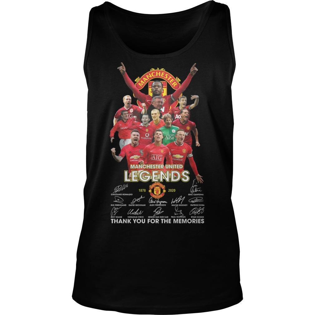 Manchester United Legends Thank You For The Memories Tank Top
