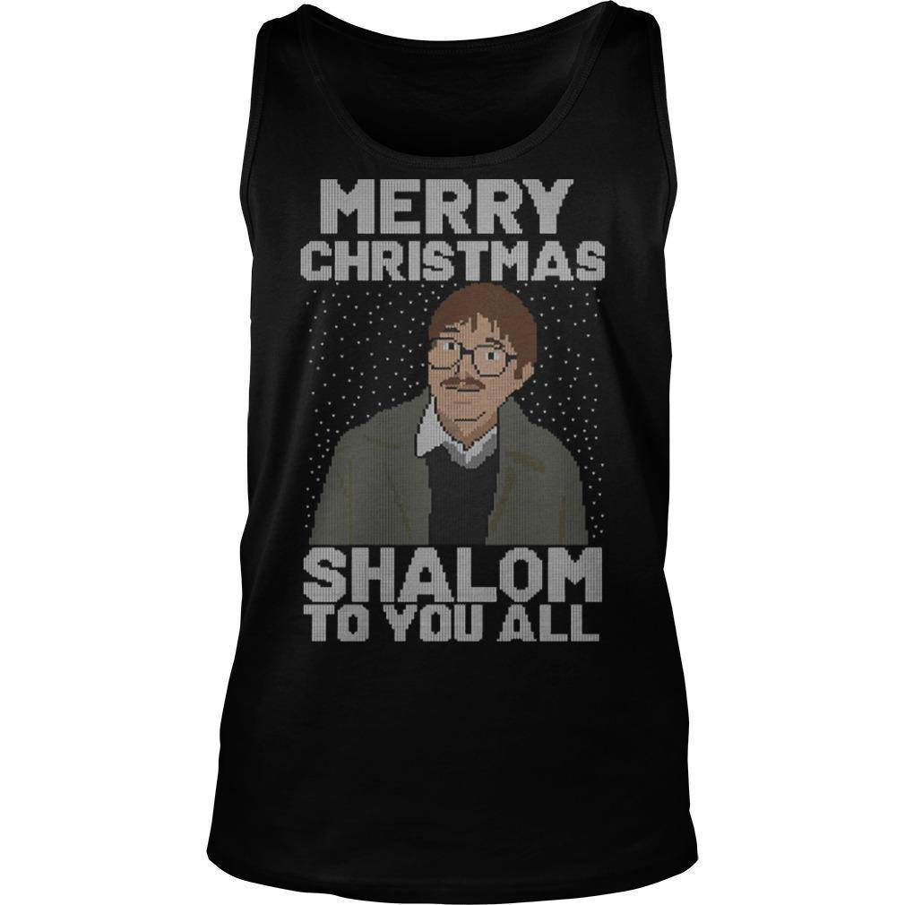 Merry Christmas Shalom To You All Tank Top