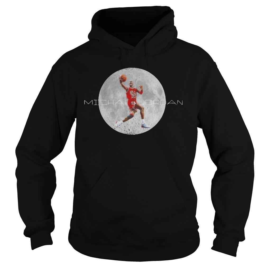 Michael Jordan And Moon Hoodie