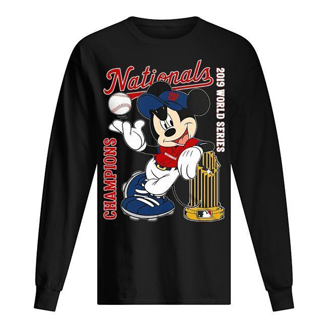 Mickey Champions Nationals 2019 World Series Longsleeve