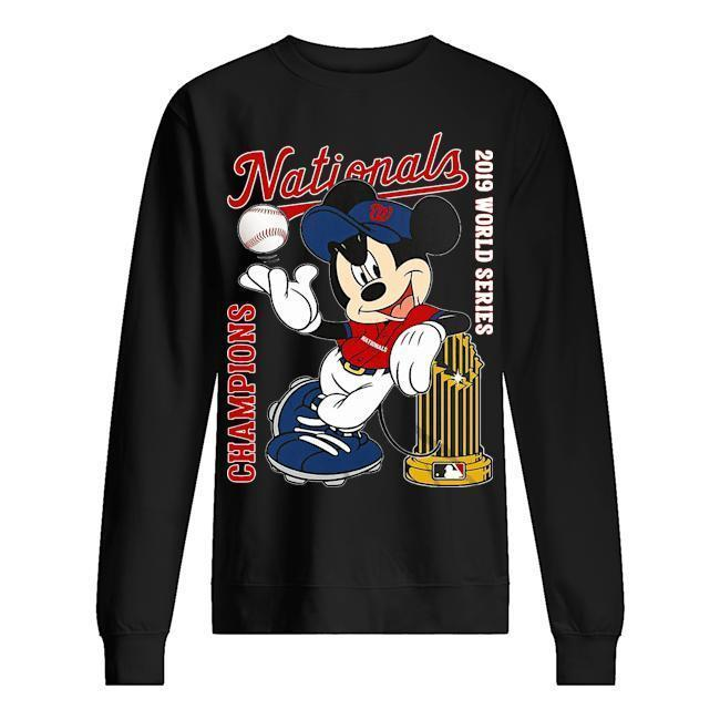 Mickey Champions Nationals 2019 World Series Sweater