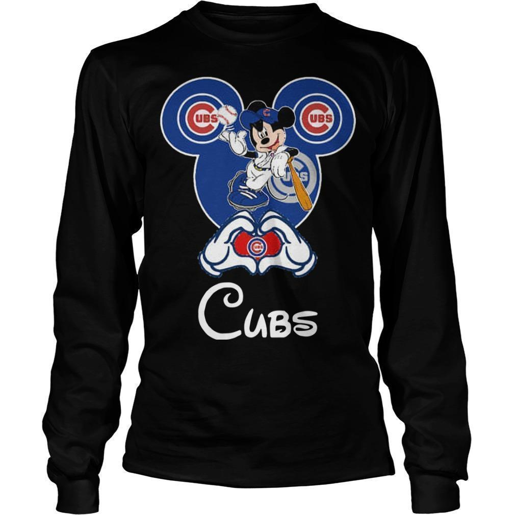 Mickey Mouse Baseball Chicago Cubs Longsleeve