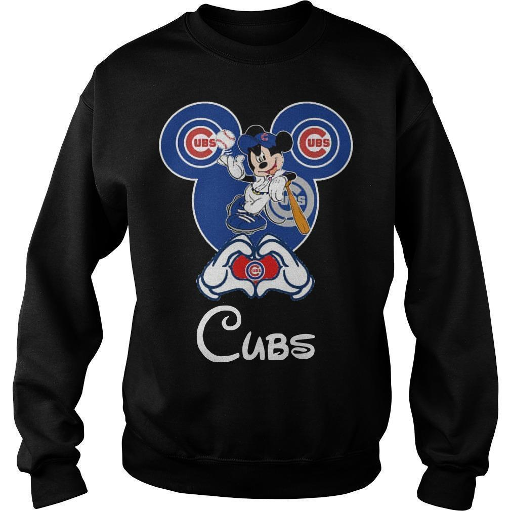 Mickey Mouse Baseball Chicago Cubs Sweater