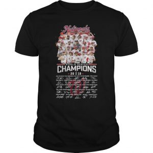 Nationals World Series Champions 2019 Signatures Shirt